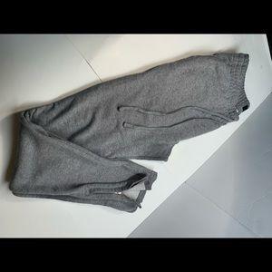 Pacsun Grey Joggers W Zipper Hem